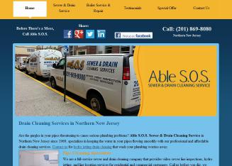 Able+S-O-S+Sewer+and+Drain+Cleaning+Service+LLC Website