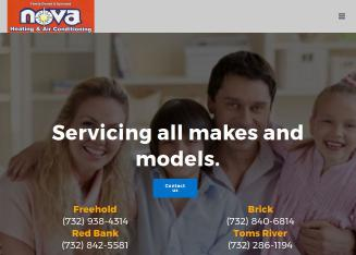 Nova+Air+Conditioning+%26+Heating Website