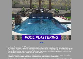 Maximum Pools Inc Pool Plastering, Spa Plastering, Resurfacing and Renovations