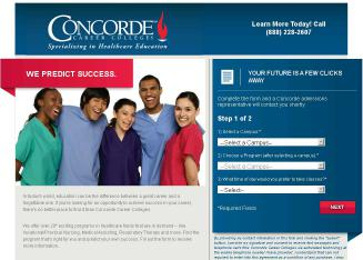 Concorde+Career+Institute Website