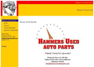Hammer%27s+Used+Auto+Parts Website