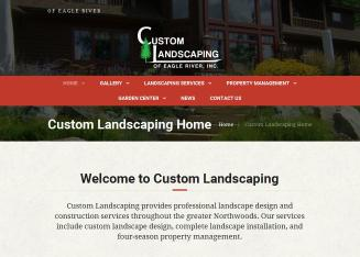Custom+Landscaping+of+Eagle+River+INC Website