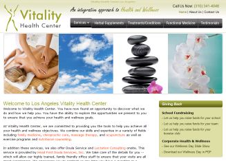 Vitality+Health+Center Website