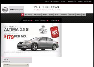 Valley+Hi+Nissan Website