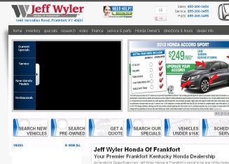 Jeff+Wyler+Honda+of+Frankfort Website