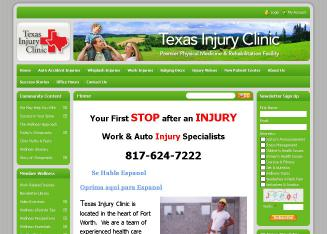 Texas+Injury+Clinic Website
