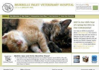 Murrells+Inlet+Veterinary+Hospital Website