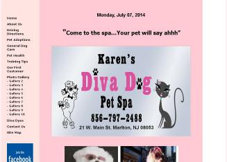 Karen%27s+Diva+Dog+Pet+Spa Website