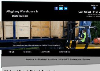 Allegheny+Warehouse+%26+Distribution Website