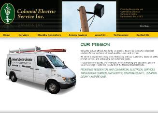 Colonial+Electric+Service+Inc Website