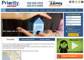 Priority+Moving+-+San+Diego+Movers Website
