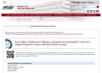 Bureau of motor vehicles deputy registrar in cadiz oh for Bureau of motor vehicles deputy registrar license agency cleveland oh