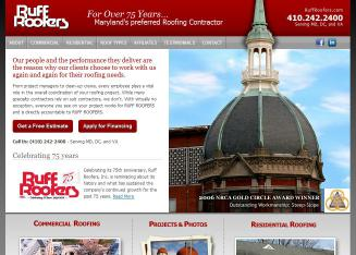 Ruff+Roofing Website