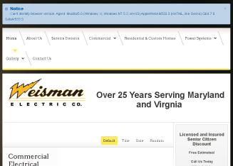 Weisman+Electric+Co Website