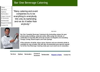 Bar+One+Complete+Beverage+Catering Website