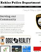 Kohler+Police+Department Website