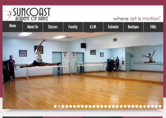 Suncoast+Academy+of+Dance Website