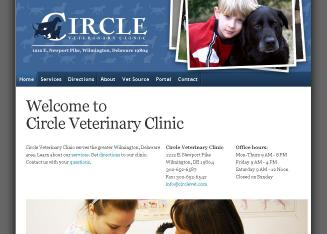 Circle+Veterinary+Clinic Website