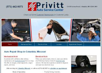 Privitt+Auto+Service+Center Website