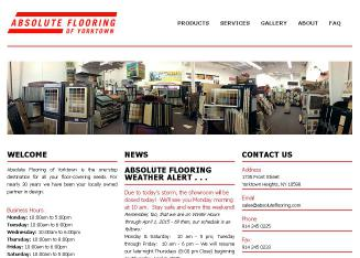 Absolute+Flooring+of+Yorktown Website