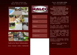Malco+Construction Website
