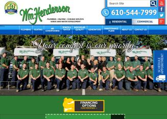 William+Henderson+Plumbing+Heating+Cooling+Services Website