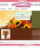 Brown+Floral+%26+Creations Website