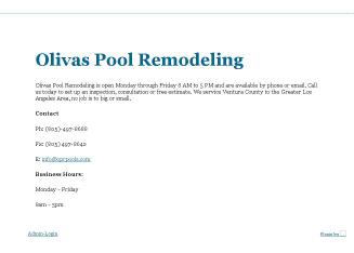 Olivas+Pool+Remodeling Website