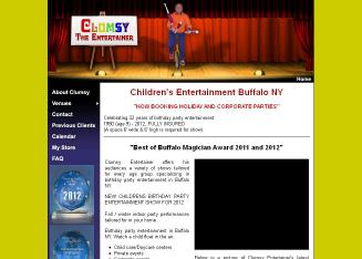 Clumsy+The+Entertainer Website