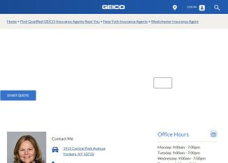 GEICO+Local+Westchester+Insurance+Agent Website