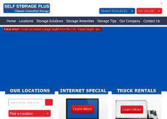 Self+Storage+Plus Website