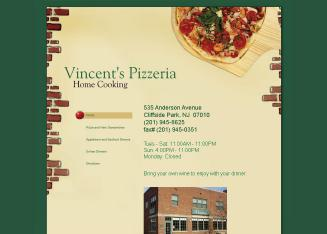 Vincent%27s+Pizzeria Website
