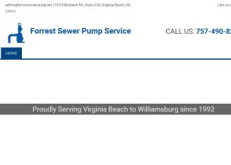 Forrest+Sewer+Pump+Service Website