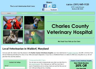Charles+County+Veterinary+Hospital Website