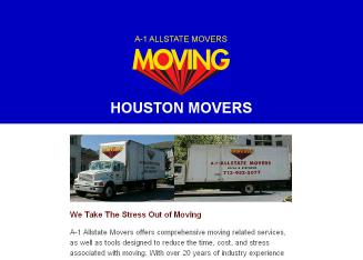 A-1+Allstate+Movers+-+Houston+Texas+Moving+Company Website