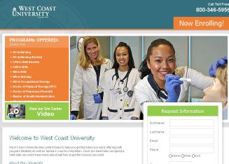 West+Coast+University Website