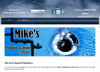 Mike%27s+Plumbing+%26+Drain+Service Website