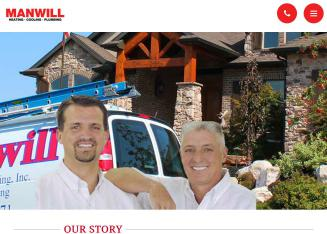 Manwill+Plumbing+%26+Heating Website