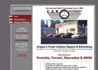 Canyon+Auto+Rebody Website