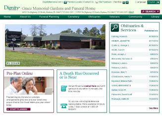 Grace Memorial Gardens And Funeral Home In Hudson Fl 16931 Us Highway 19 Hudson Fl