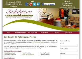 Indulgence+Medical+Day+Spa Website
