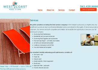 West+Coast+Pool+%26+Spa Website