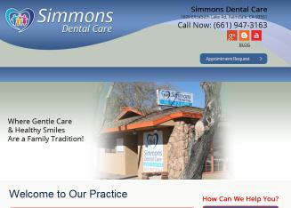 Simmons+Dental+Care Website