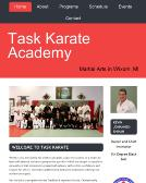Task+Karate+Academy Website