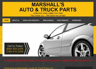 Marshall%27s+Auto+%26+Truck+Parts+Inc Website