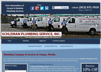 A+A+Schleman+Plumbing+Co+Inc Website