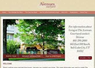 Avenues+Courtyard+Assisted+Living Website