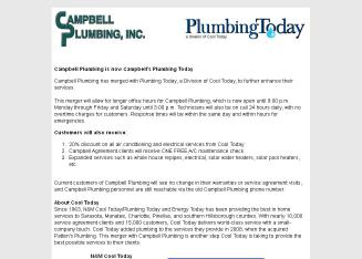 Campbell+Plumbing Website