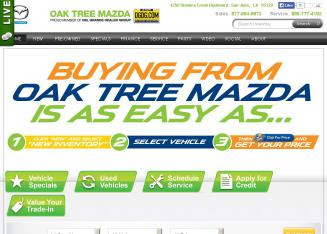 Oak+Tree+Mazda Website