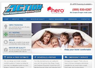 Action+Air+Conditioning%2C+Heating+%26+Solar Website